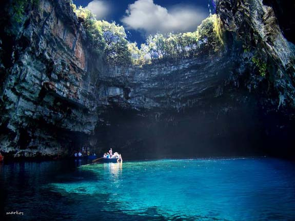 10. Melissani Lake is located in beautiful Greece, within the Ionian Sea. Photo by Zuhairah
