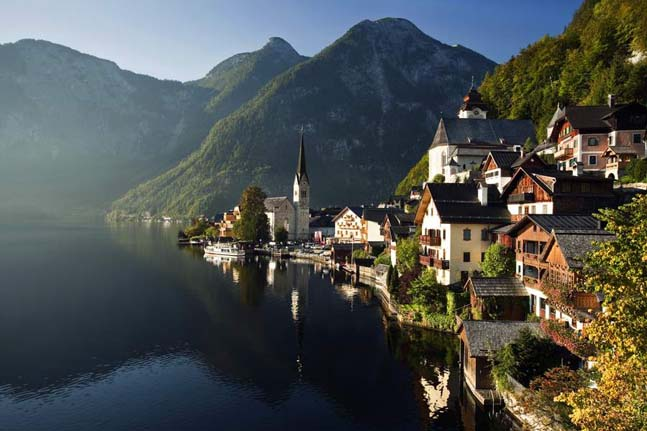14. Halstatt Lake in Austria is surrounded by the resort area Salzkammergut. Photo by Yuri Yavnik
