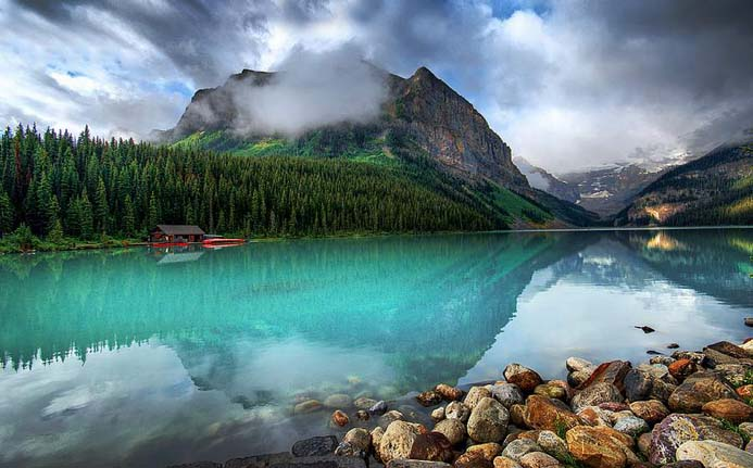 Lake Louise in Canada is a pristine glacial lake. Photo by Kate Bannon