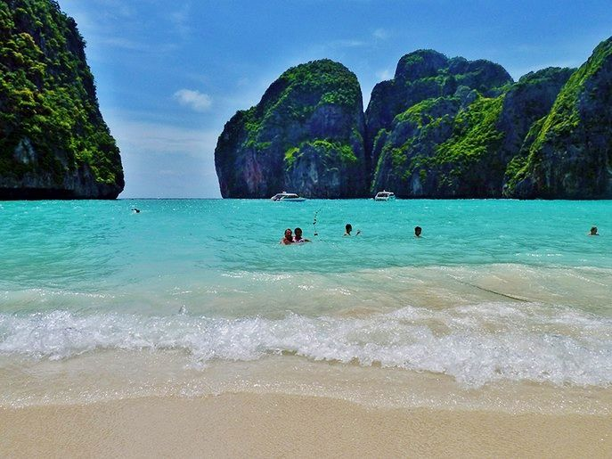 Maya Bay in the small island of Ko Phi Phi. Photo via ytravelblog