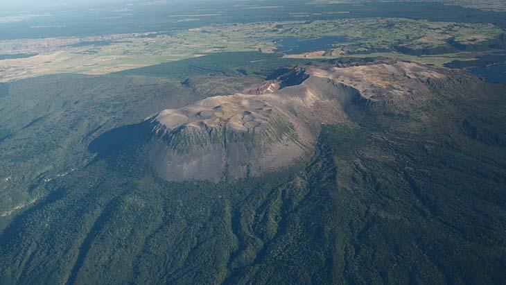 The view of the area around Mt. Tarawera. Photo via Z