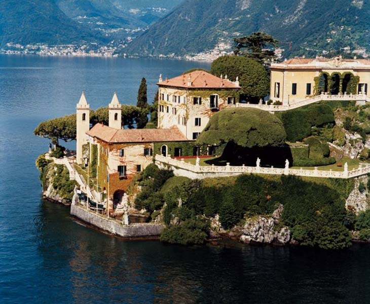 Villa del Balbianello, incredible to see even from air. Photo via vanityfair