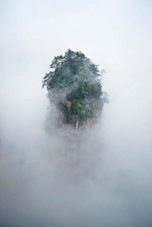 The Tianzi Mountains are an awe-inspiring natural wonders. Image via Distractify.