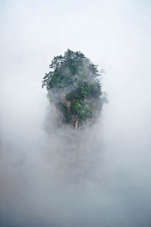 The Tianzi Mountains are an awe-inspiring natural wonders. Image via Distractify.