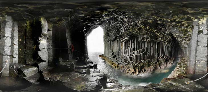 Fingals Cave was formed by cooling lava. Photo by xcitefun.net