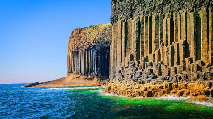 Take a boat ride past Fingals Cave in Scotland. Photo by squarespace.com