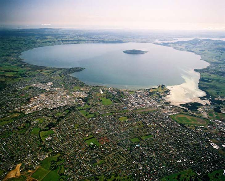 Lake Rotorua is amazing to see from all angles and heights