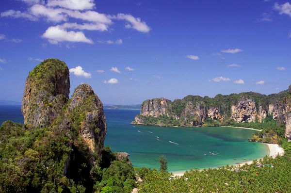 Railay Beach offers beautiful serenity. Photo via sheknows