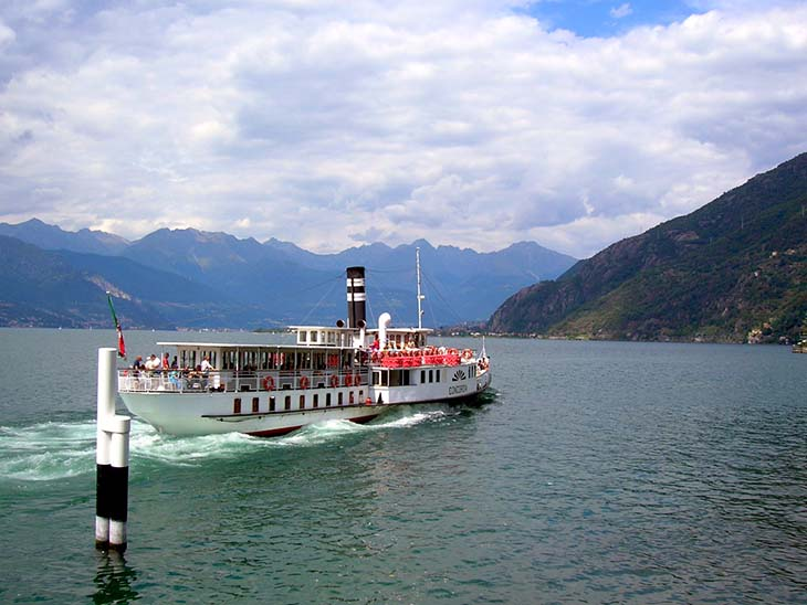 The ferry service on Lake Como. Photo via genius-loci