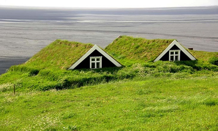 Turf houses Iceland. Photo by matadornetwork.com
