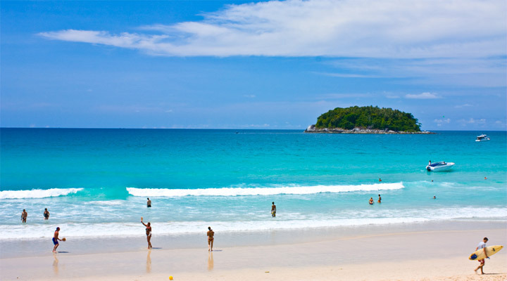 Kata Beach has got some of the best natural scenery of Thailand. Photo via myfatpocket