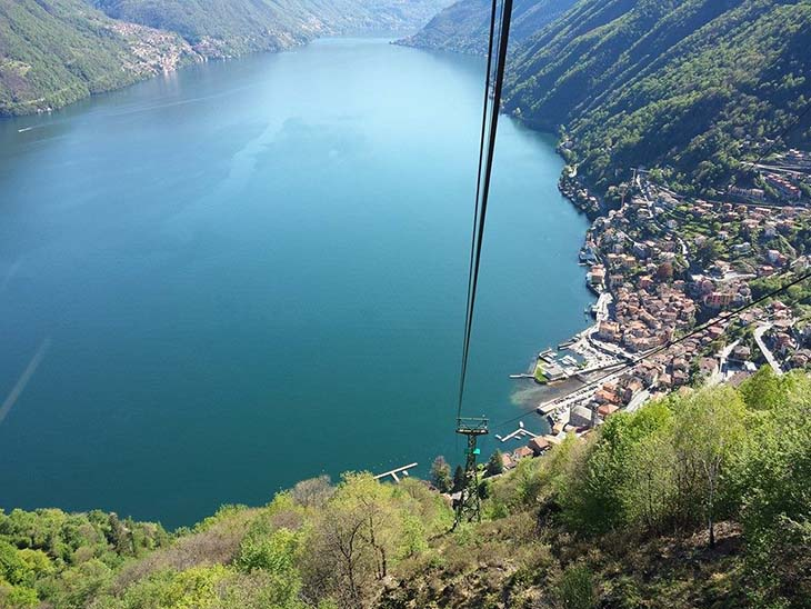 The Pigra Cableway view. Photo via chefquak