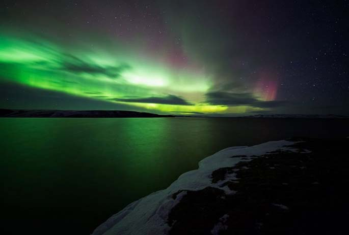 Aurora Borealis seen from Ireland. Image via Distractify.