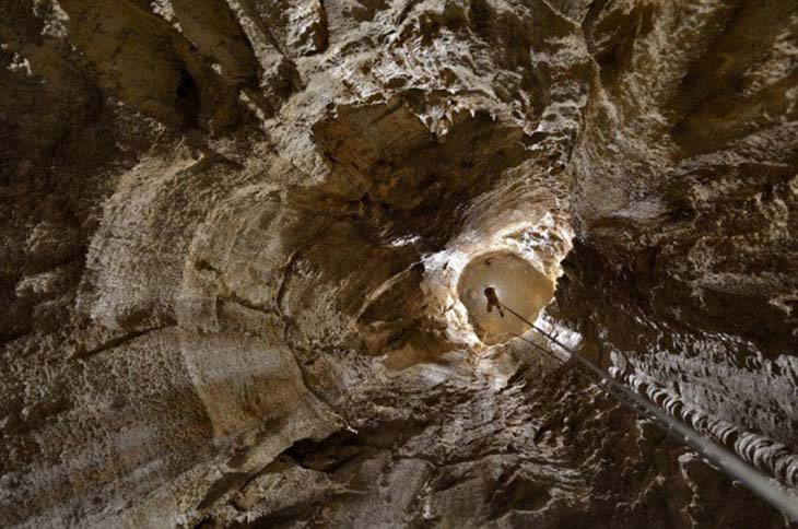 The Gouffre Berger cave is almost 4000 feet deep and extremely dangerous. Photo by topDreamer