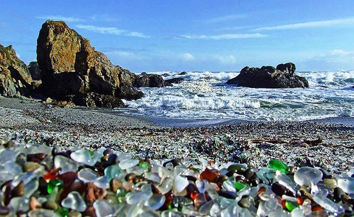 Pounding waves shaped the stones and reclaimed the beach. Photo via Utiful1