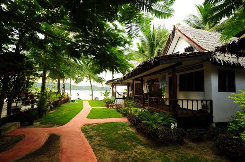 Seculuded garden bungalows make the Long Tail Resort a special place to stay. Photo via Beach Front Club