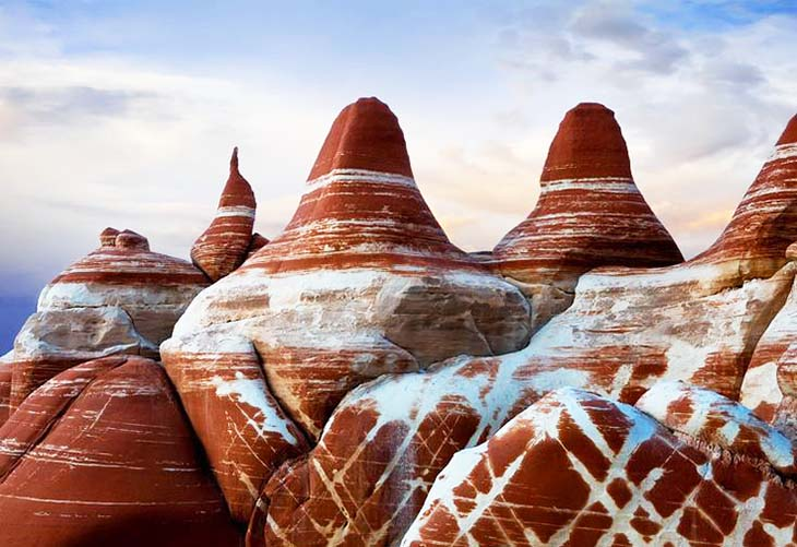 The Blue Canyon of Arizona and its oddly shaped rock formations. Photo by Cecil Whitt