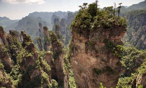 The view of ZhangJiaJie National Park
