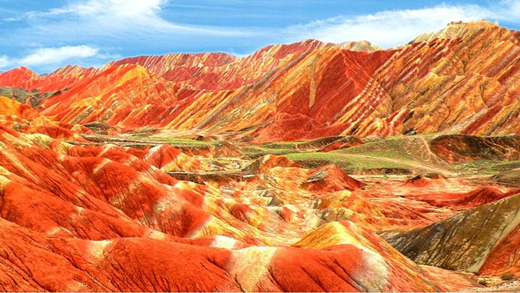 Zhangye Danxia Landform, Rainbow Mountains in China. Photo by blogspot.com