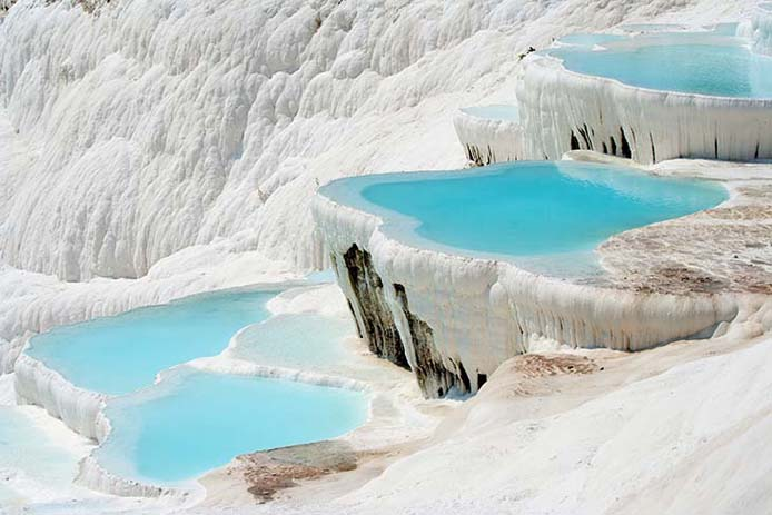 The springs at Pamukkale Turkey. Photo via traveljunkiediary.jpg