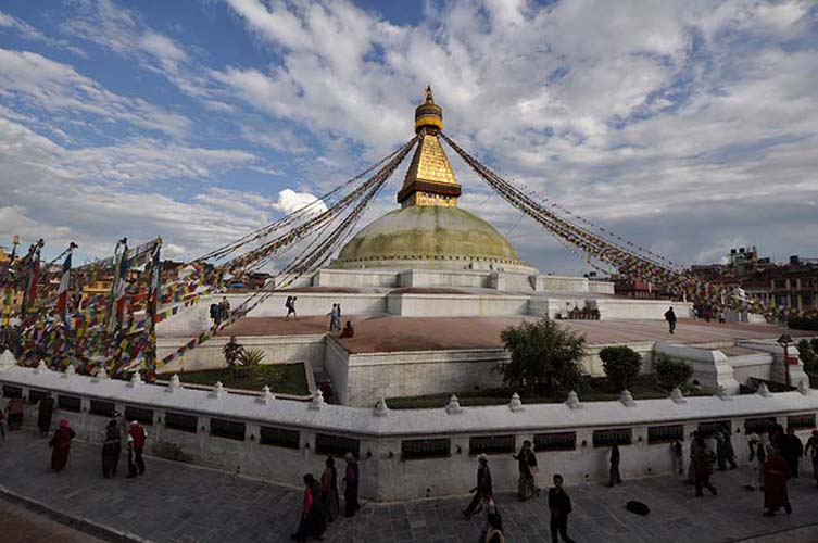 The Boudhanath Stupa is one of the holiest and most recognisable sites in Kathmandu. Photo via wikimedia