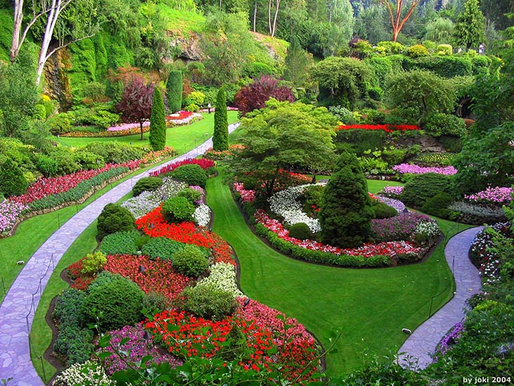 The Butchard Gardens, Canada. Photo via district8perinatal