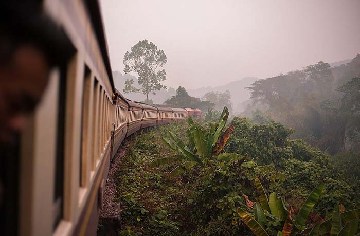 Train is the way to go in Thailand. Phot via www.flickr.com