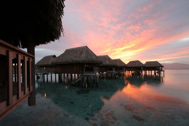 The Sofitel Moorea la Ora Beach Resort in Tahiti. Photo via Visual Itineraries