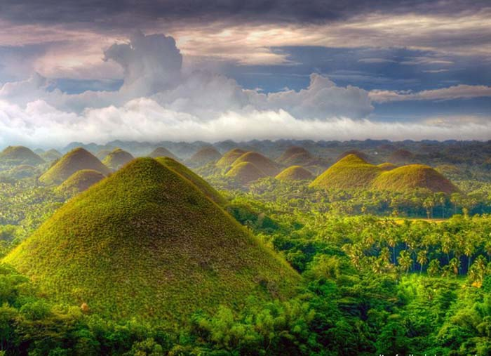Chocolate Hills in the Phillipines. Photo by Ding Fuellos
