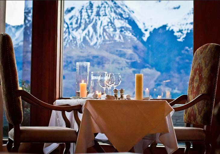 Enjoy lunch while overlooking the snowcapped mountains. Photo by Sharon Ngu