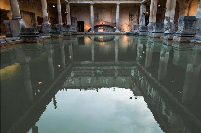 The Hot Springs or Baths in Bath, England. Photo by Grand Parc via Flickr