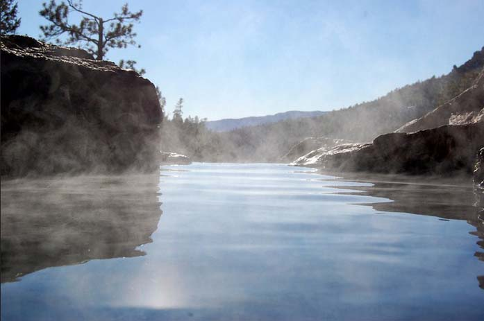 Spence Hot Springs in the Jemez Mountains. Photo by Greg Medendorp via Flickr