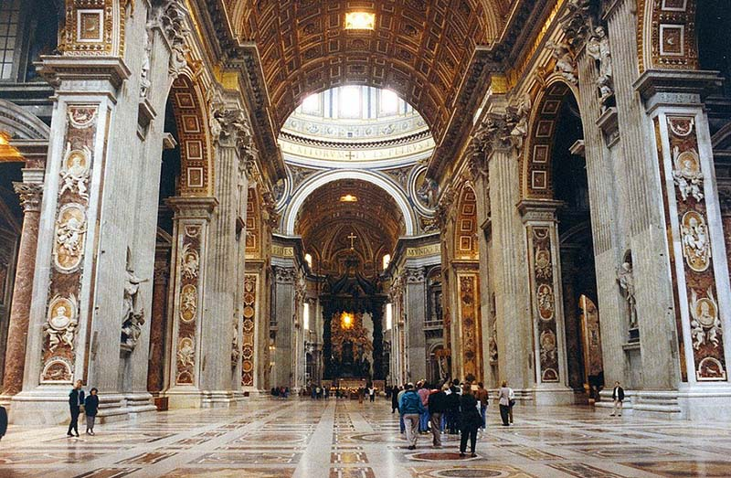 The breathtaking beauty inside the Vatican. Photo by Patrick