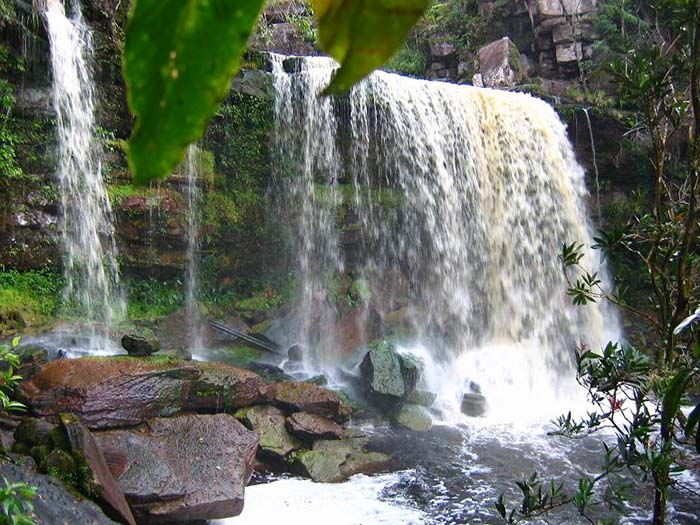 The waterfalls are a popular attraction. Photo via snappcambodia