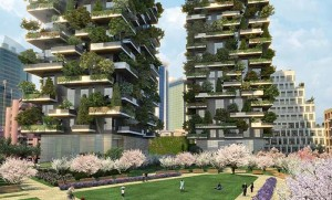 A concept design of Bosco Verticale. Photo via residenzeportanuova