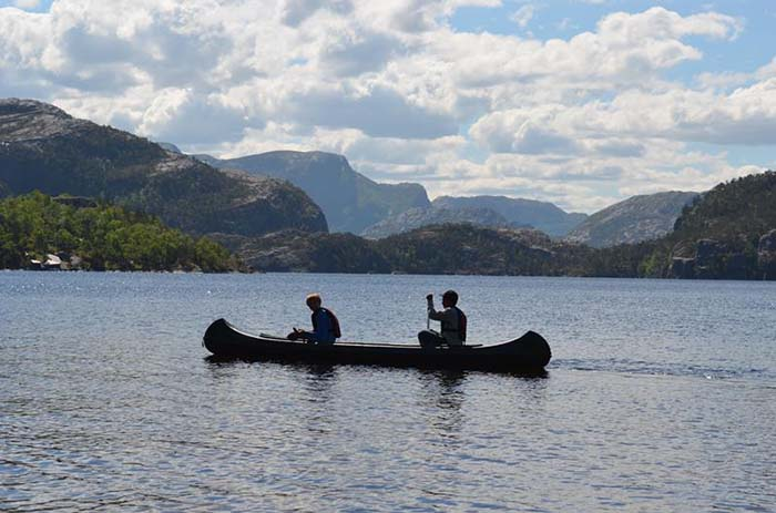 The calm fjord is perfect for a relaxing paddle. Photo via www.visitnorway.com